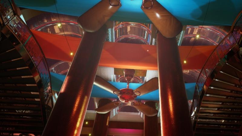 Atrium Entrance Ceiling TechnoTsunami